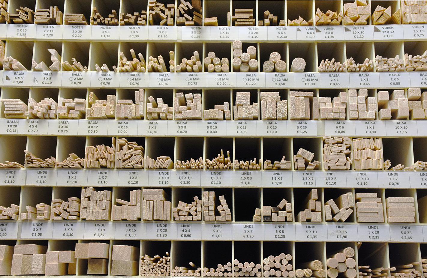 de houtloods hout modelbouw balsa